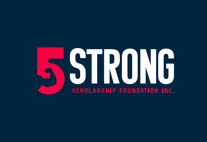 5 Strong logo on blue background